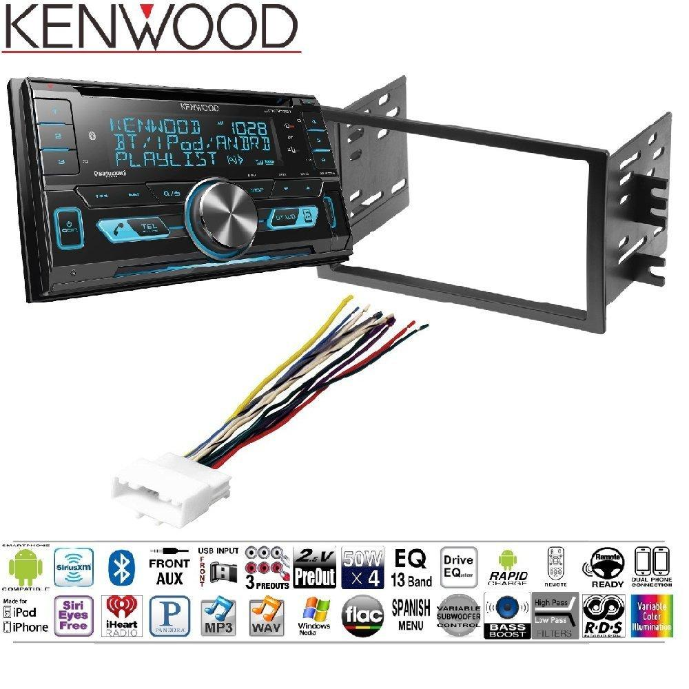 hight resolution of kenwood dpx503bt double din cd bluetooth siriusxm car stereo replaced dpx502bt dash stereo mounting kit w harness antenna install for nissan frontier