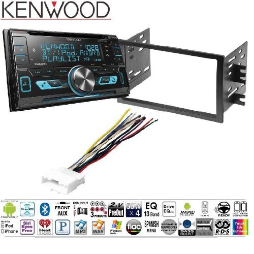 small resolution of kenwood dpx503bt double din cd bluetooth siriusxm car stereo replaced dpx502bt dash stereo mounting kit w harness antenna install for nissan frontier