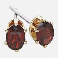 Genuine Garnet Stud Earrings - Walmart.com
