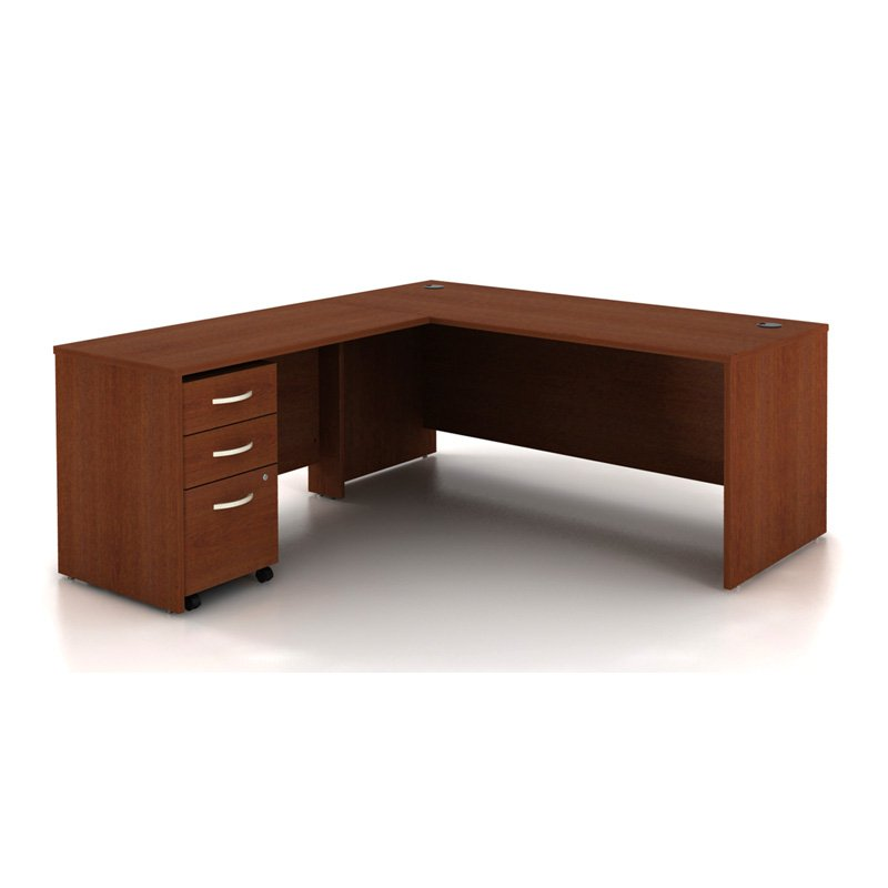 Bush Series C LShaped Desk With Filing Cabinet  Walmartcom