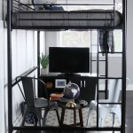 Walker Edison Full Size Premium Metal Loft Bed Black Walmart Com Walmart Com