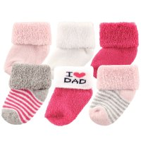 Luvable Friends Newborn Baby Socks 6 Pack, 0-6 Months ...