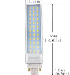 bonlux 13w gx24 rotatable led plc lamp g24q gx24q 4 pin base 26w cfl [ 1300 x 1628 Pixel ]