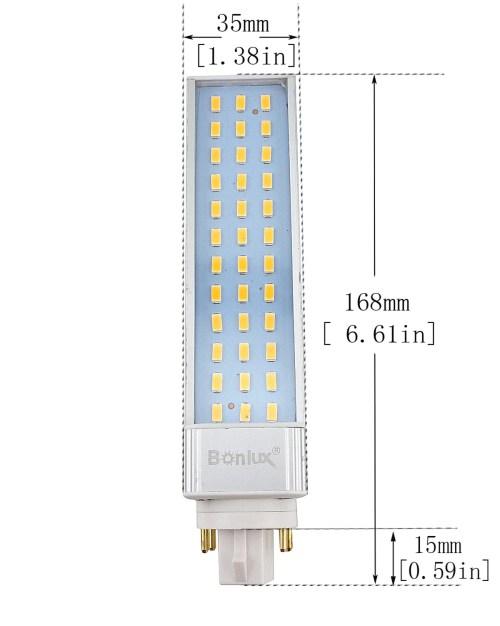small resolution of bonlux 13w gx24 rotatable led plc lamp g24q gx24q 4 pin base 26w cfl