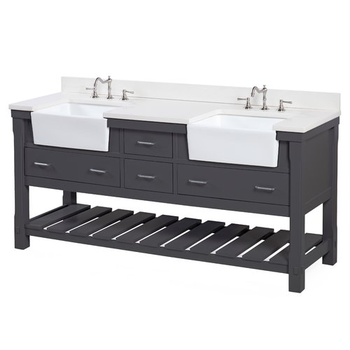 Kitchen Bath Collection Charlotte 72 Double Bathroom Vanity Set  Walmartcom