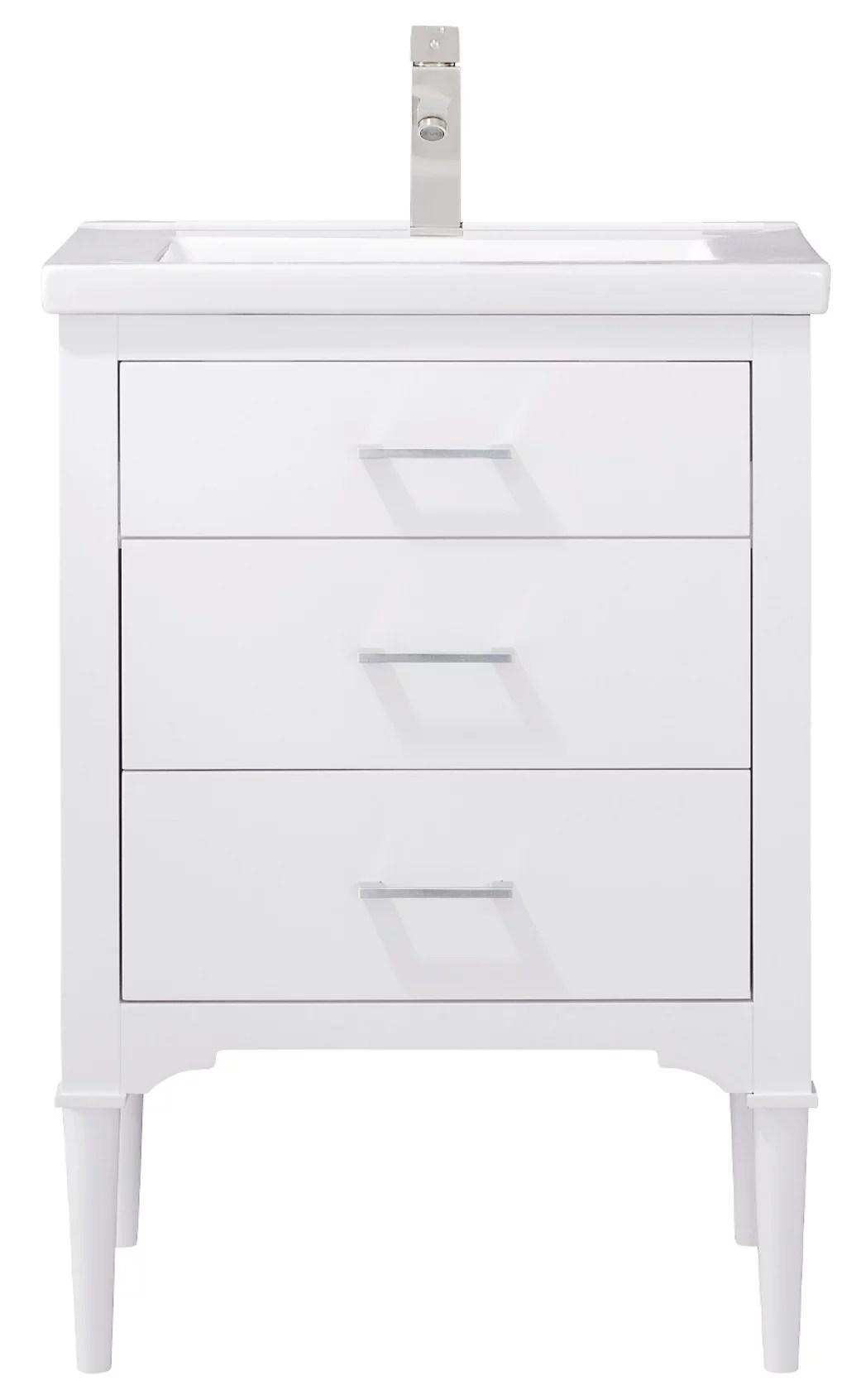design element mason 24 single sink bathroom vanity in white