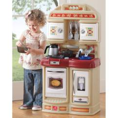 Step 2 Play Kitchens Cherry Wood Kitchen Table Step2 101 Piece Plastic Food Assortment For Toy Walmart Com