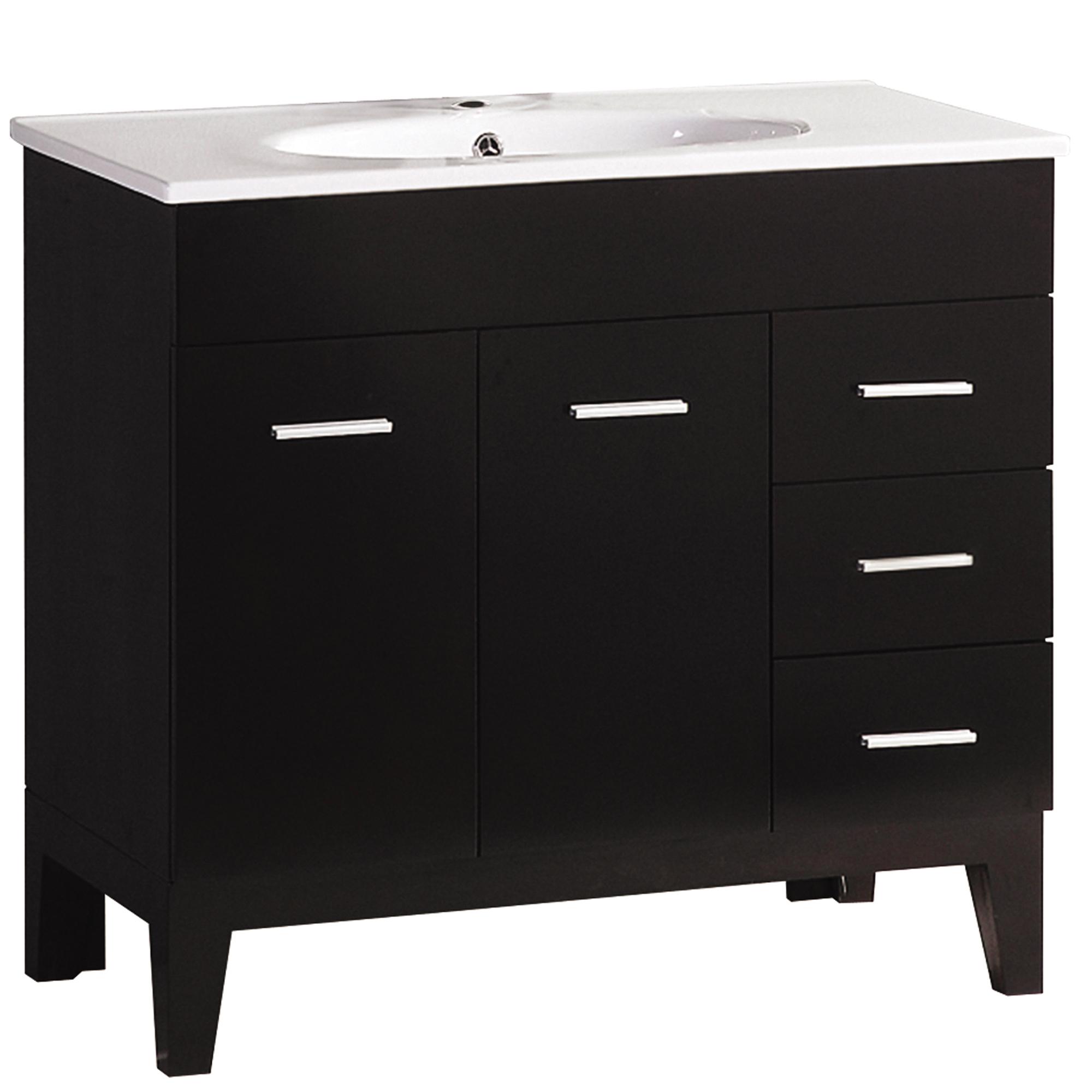 355inch Wide Single Sink Black Bathroom Vanity  Walmartcom