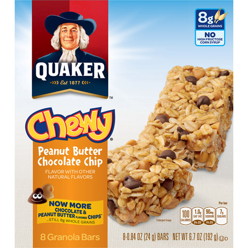 Quaker Foods Chewy Granola Bars Peanut Butter Chocolate