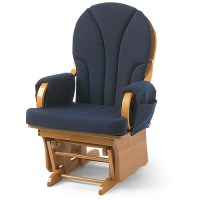 Foundations Lullaby Adult Glider Rocker, Natural/Blue ...