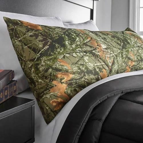 mainstays microfiber 20 x 52 camo body pillow cover 1 each