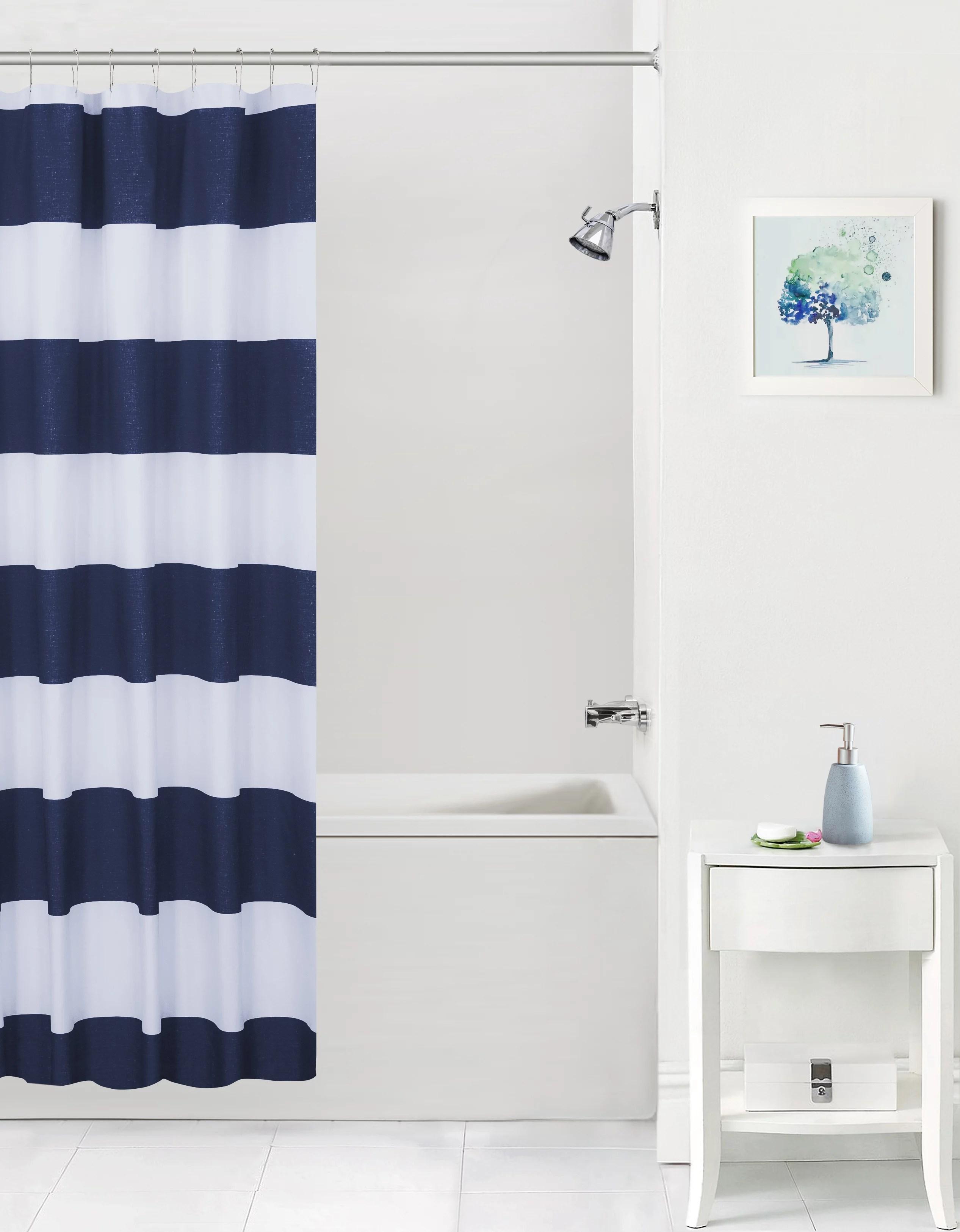mainstays cabana stripe microfiber shower curtain walmart com