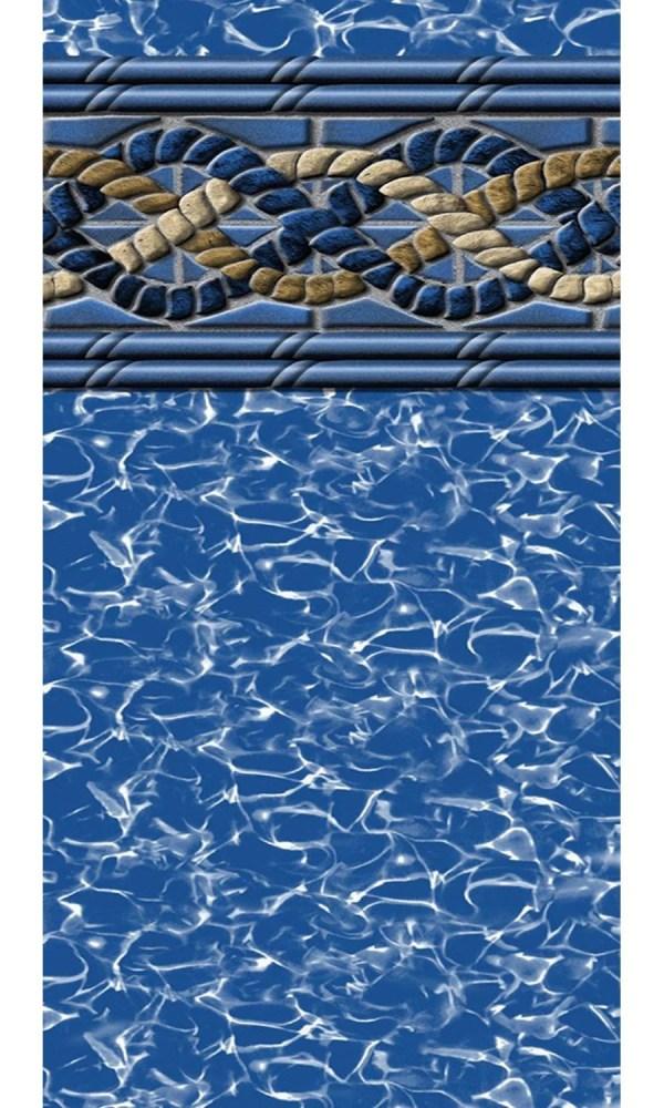 12-foot-24-foot Rectangular Beaded Mystri Gold Above Ground Swimming Pool Liner - 4-foot Flat