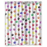 GreenDecor Colorful Animal Paw Print Dog Paw Waterproof