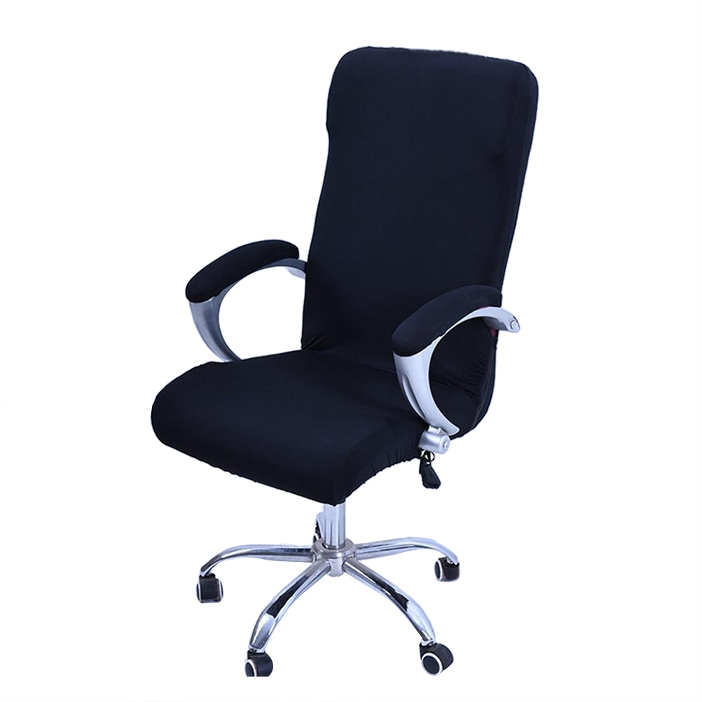 office chair covers to buy video game best rotating armchair slipcover removable stretch computer cover protector size l black walmart com