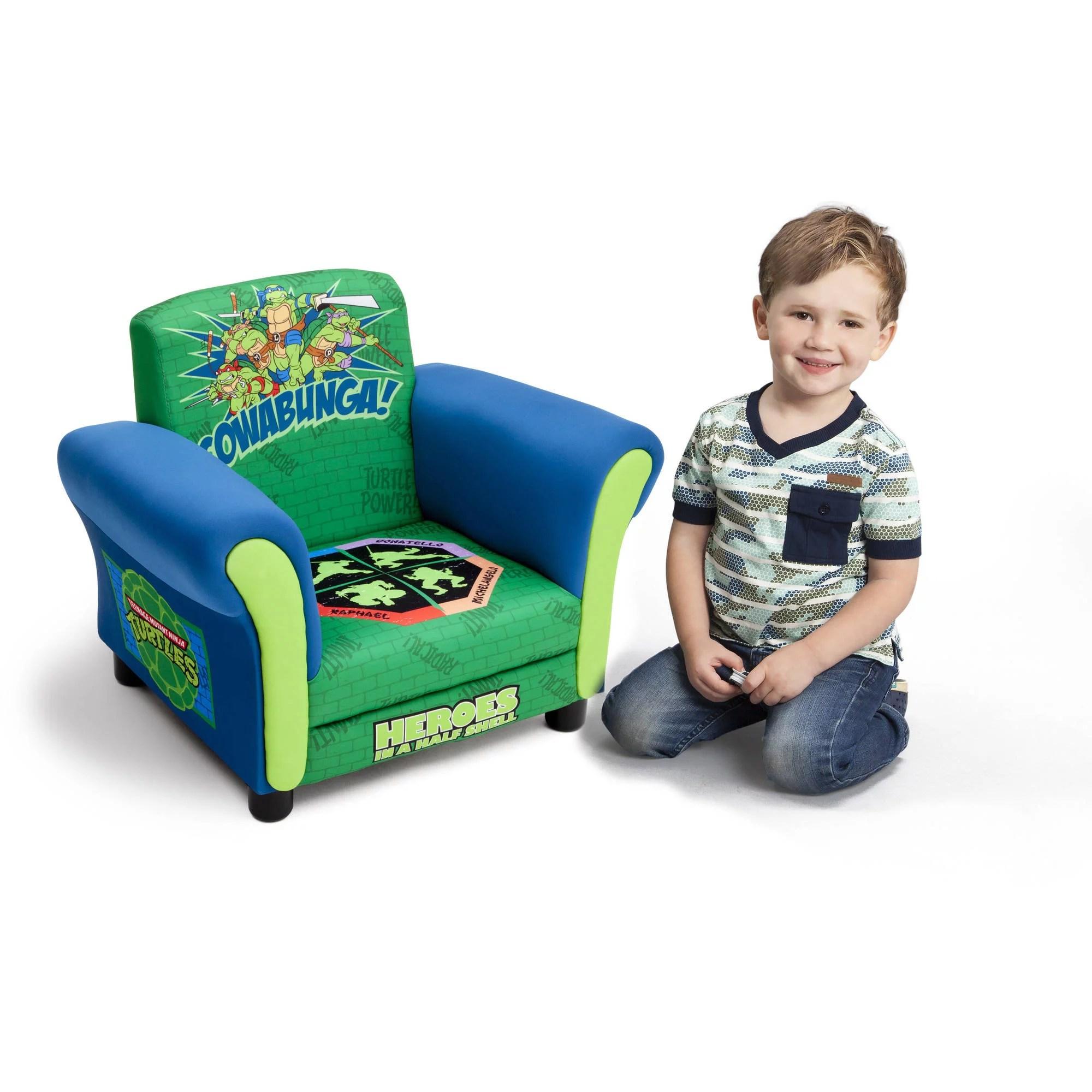 childrens upholstered chairs gold velvet chair uk teenage mutant ninja turtles kids by delta children walmart com