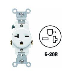 107 05821 wsp 20 amp 250 volt single receptacle electrical power outlet white all power contacts are triple wipe for maximum conductivity and plug  [ 1280 x 1280 Pixel ]