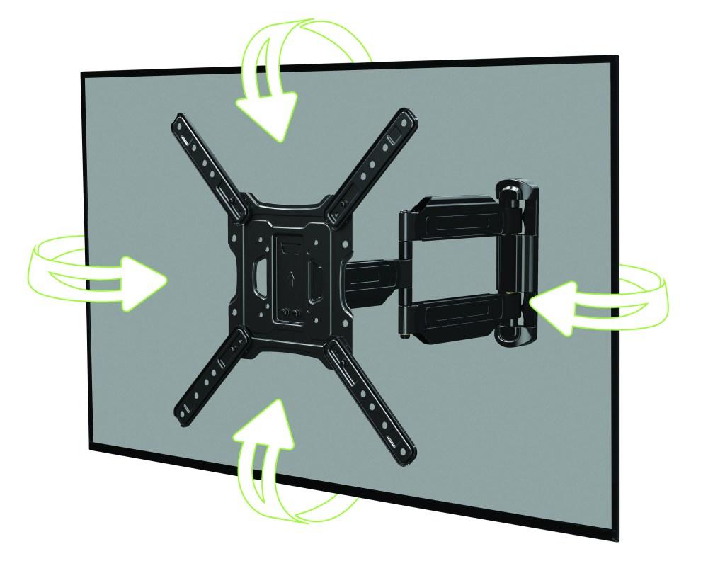 medium resolution of onn full motion cross arm mount kit for 32 47 tvs low profile extend tilt with built in leveler