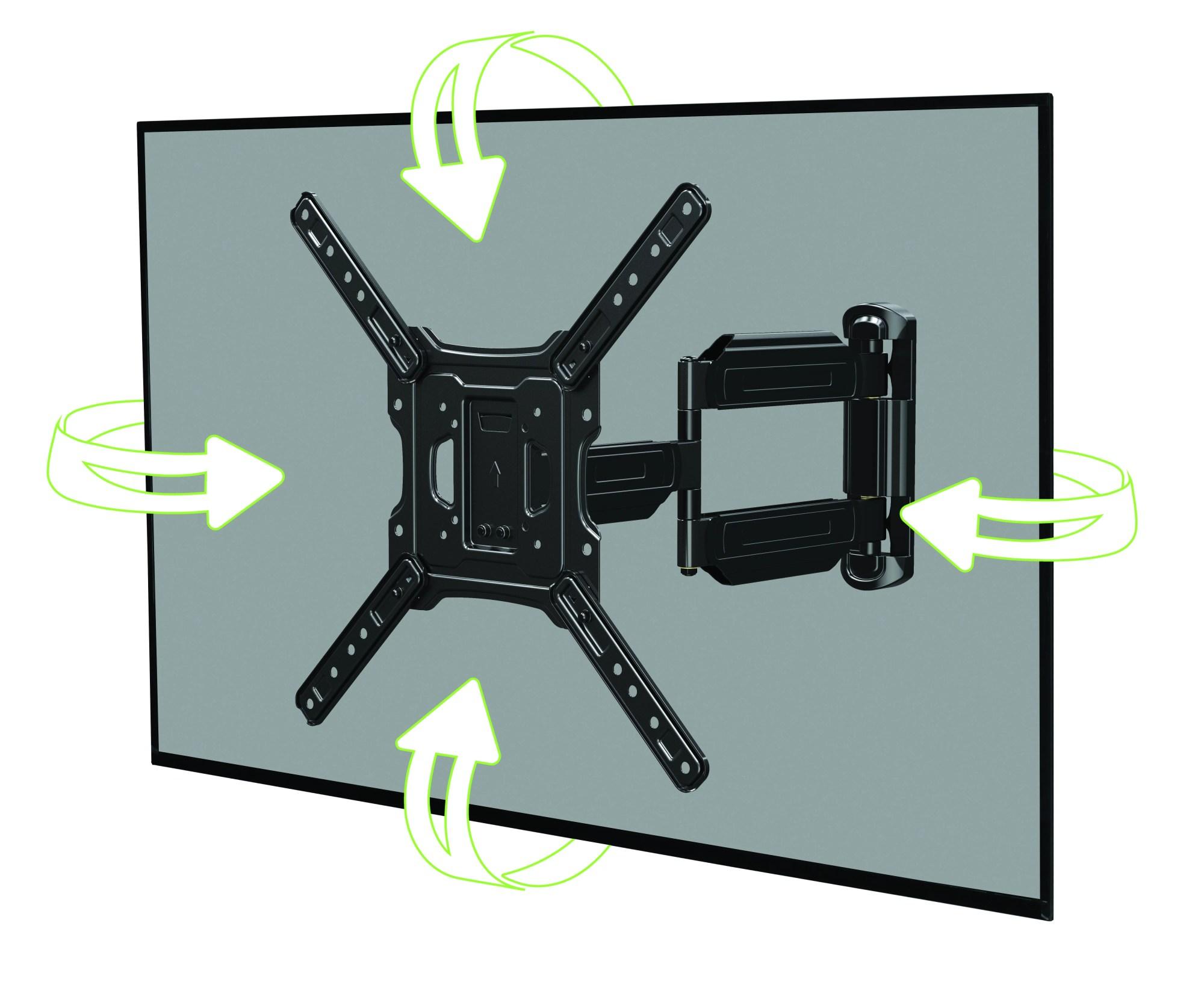 hight resolution of onn full motion cross arm mount kit for 32 47 tvs low profile extend tilt with built in leveler