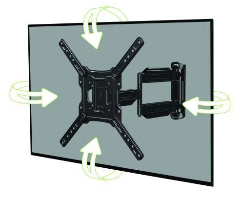 small resolution of onn full motion cross arm mount kit for 32 47 tvs low profile extend tilt with built in leveler
