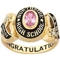 Personalized Girl's Yellow Celebrium Sweetheart Class Ring ...