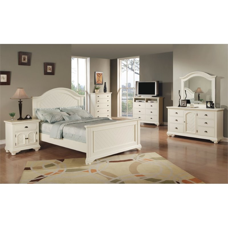 picket house furnishings addison 6 piece king bedroom set in white