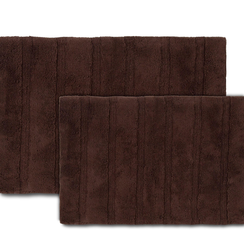 martex abundance 20 w x 30 l chocolate brown bath rug