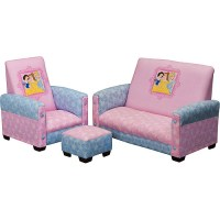 Disney Princess Toddler Sofa, Chair and Ottoman Set ...