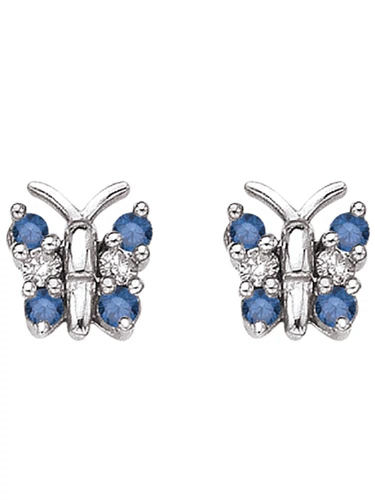 Katarina 14K White Gold 14 ct Blue and White Diamond