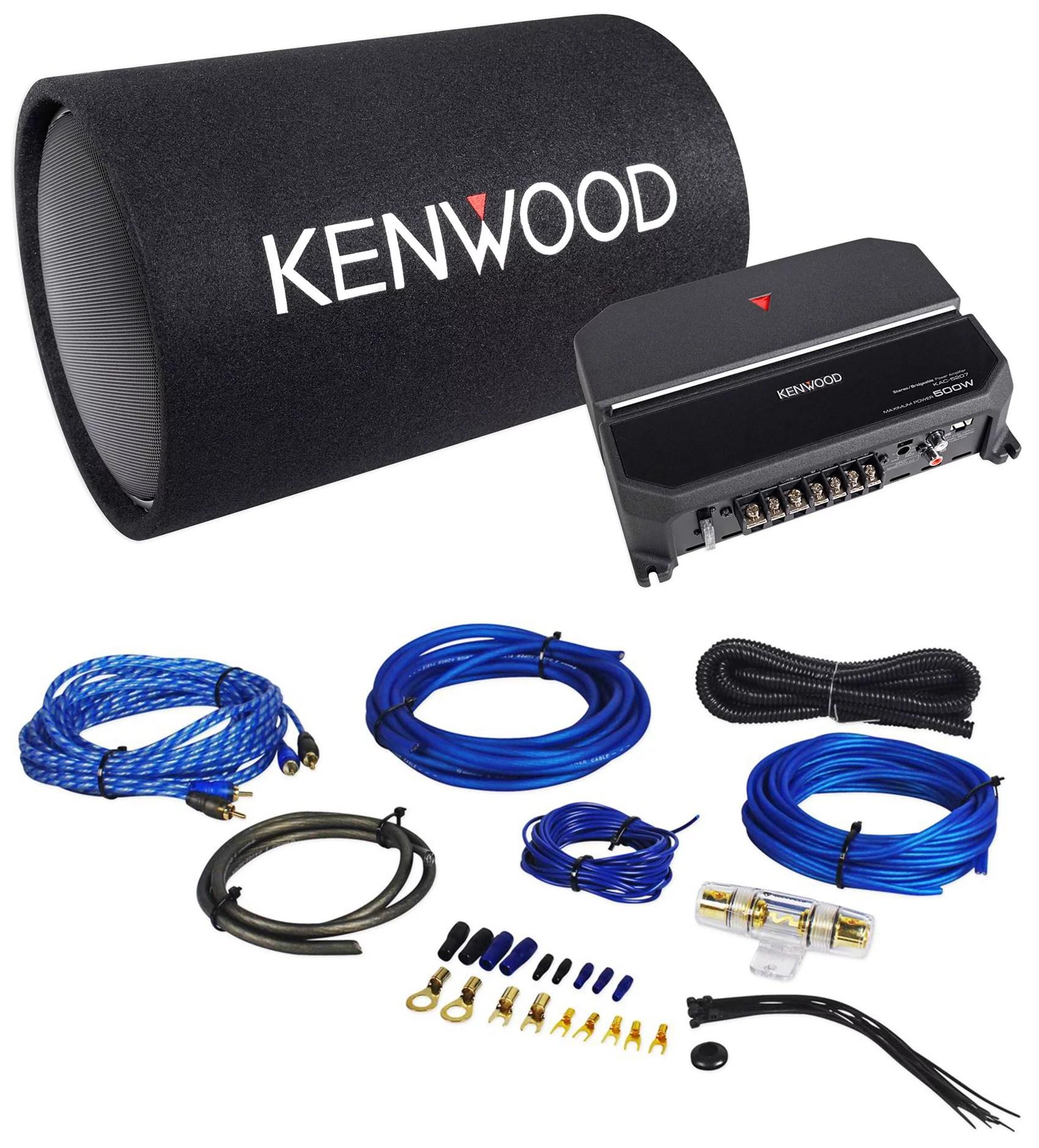 hight resolution of kenwood p w131tb 12 1200 watt car audio subwoofer bass tube amplifier wire kit walmart com