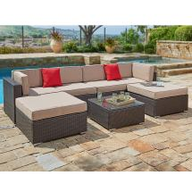 Suncrown Outdoor Sectional Sofa Set 7-piece