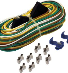 4 way trailer wire harness 25 feet features a 25 wishbone trailer harness a 4 vehicle side connector and color coded 4 way wires by shoreline marine [ 1500 x 1303 Pixel ]