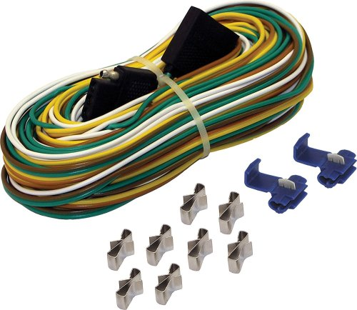 small resolution of 4 way trailer wire harness 25 feet features a 25 wishbone trailer harness a 4 vehicle side connector and color coded 4 way wires by shoreline marine