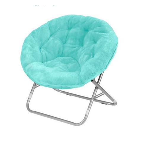 Faux Fur Saucer Moon Chair Dorm Room Lounging Furniture Seat Multiple Colors New
