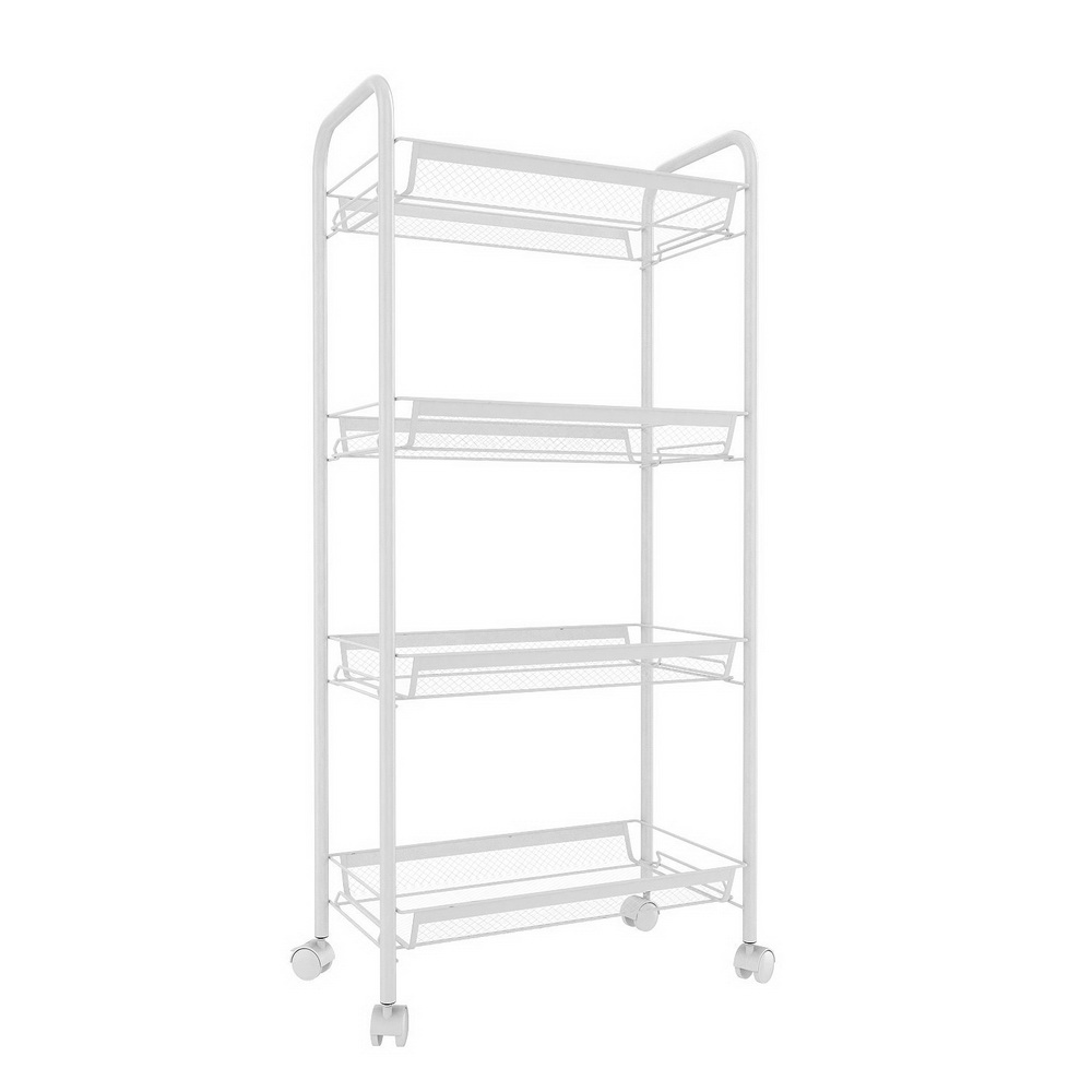 CLEARANCE! 4-Tier Small Kitchen Utility Carts with 5 Side