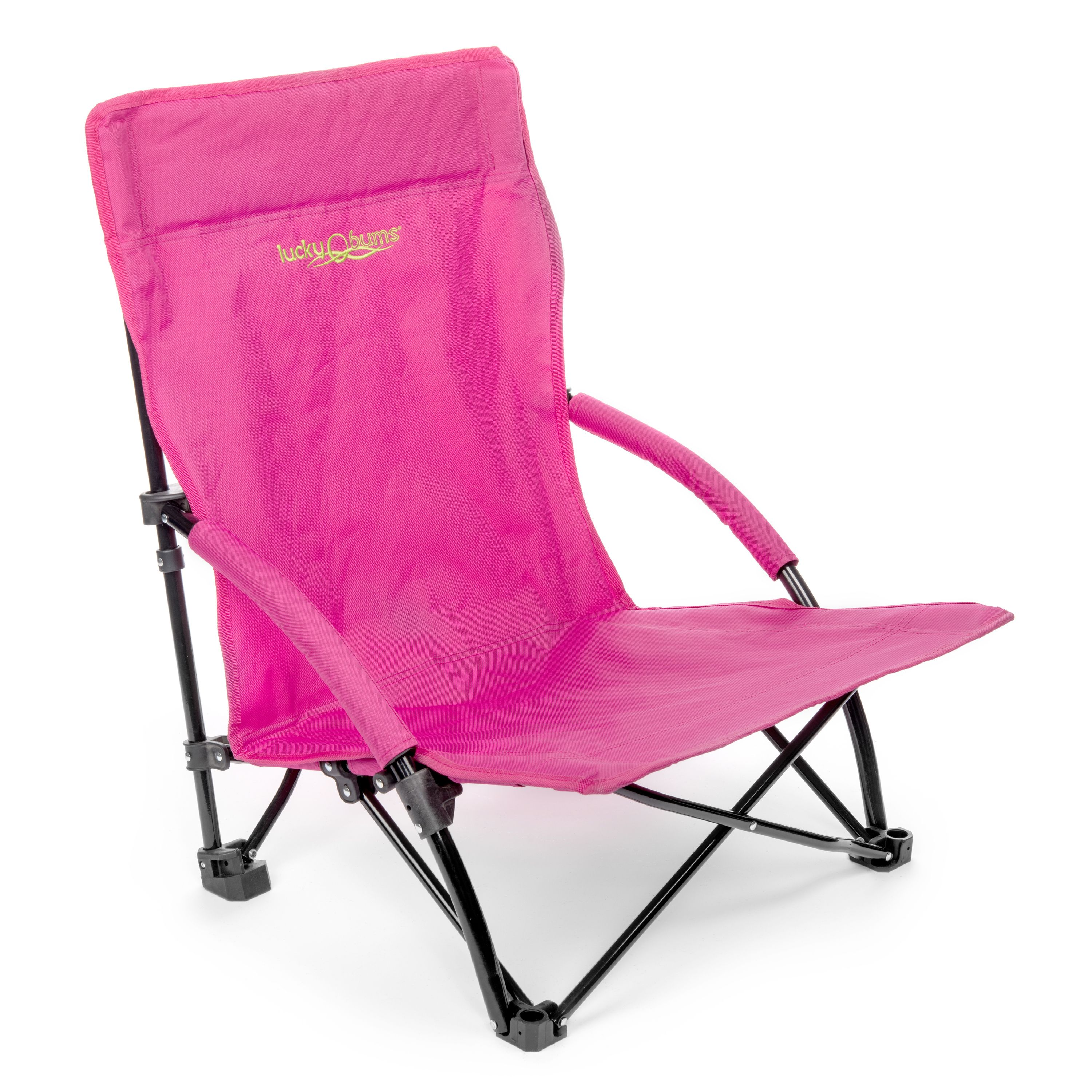 Beach Sling Chair Lucky Bums Low Profile Folding Sling Beach Chair Pink