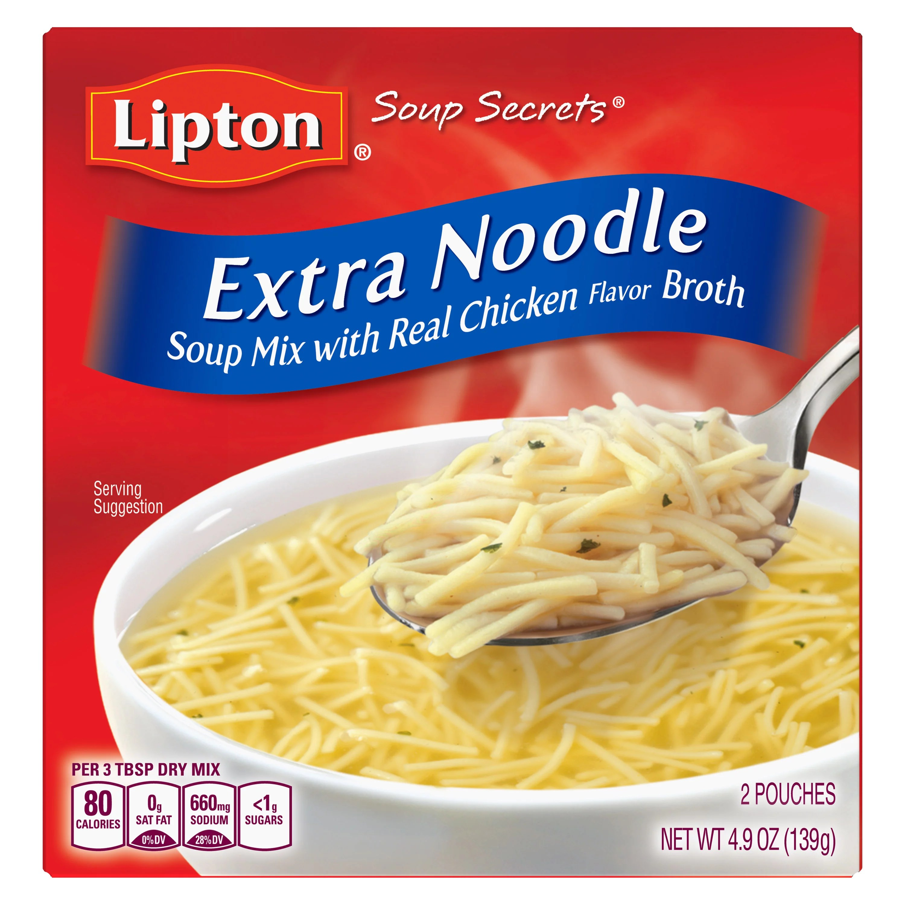 Lipton Soup Secrets with Real Chicken Flavor Extra Noodle ...
