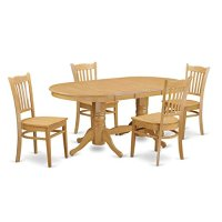 VAGR5-OAK-W 5-Piece Small kitchen table set - Dining room ...