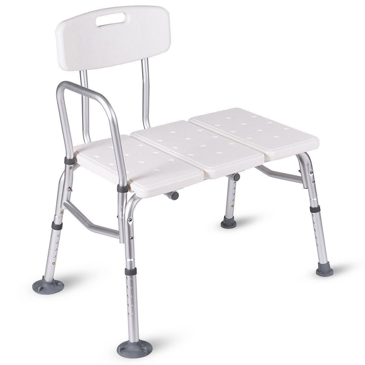 Costway Shower Bath Seat Medical Adjustable Bathroom Bath