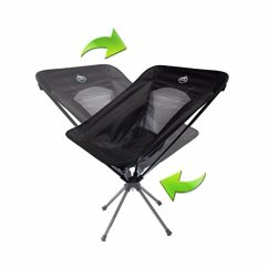 Compact Camping Chair Chamber Pot Trekk Ultralight Swivel Midnight Black Walmart Com