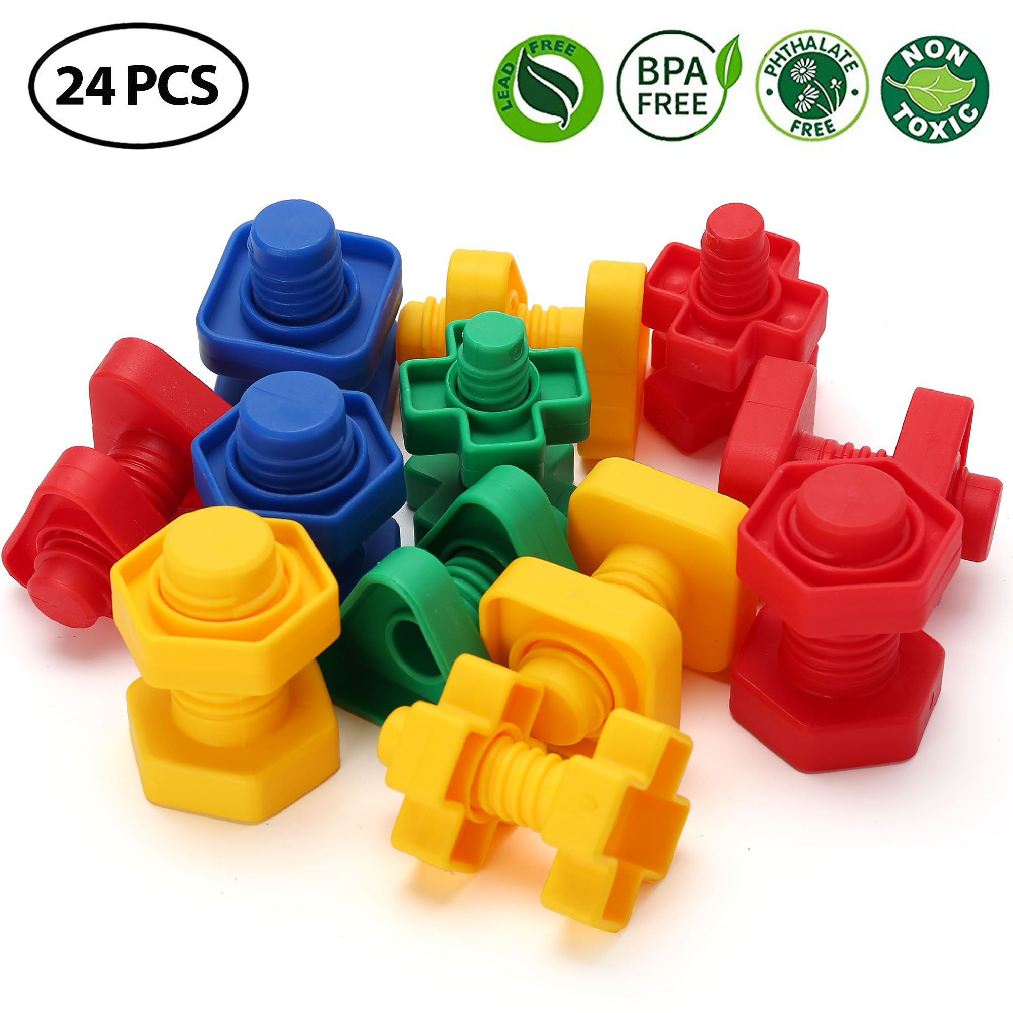 Jumbo Nuts And Bolts Toys For Toddler Kids Girls Boy 1 2