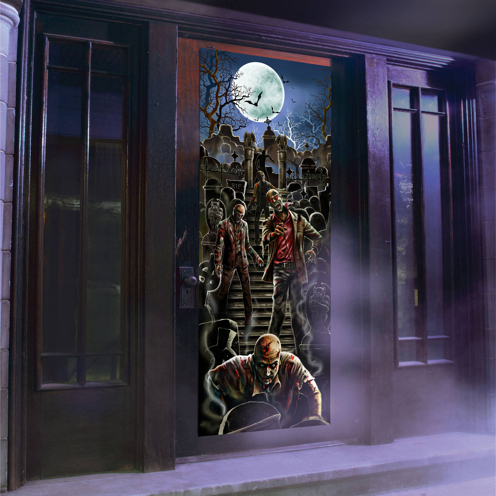 Zombie Light and Sound Door Panel Halloween Decoration