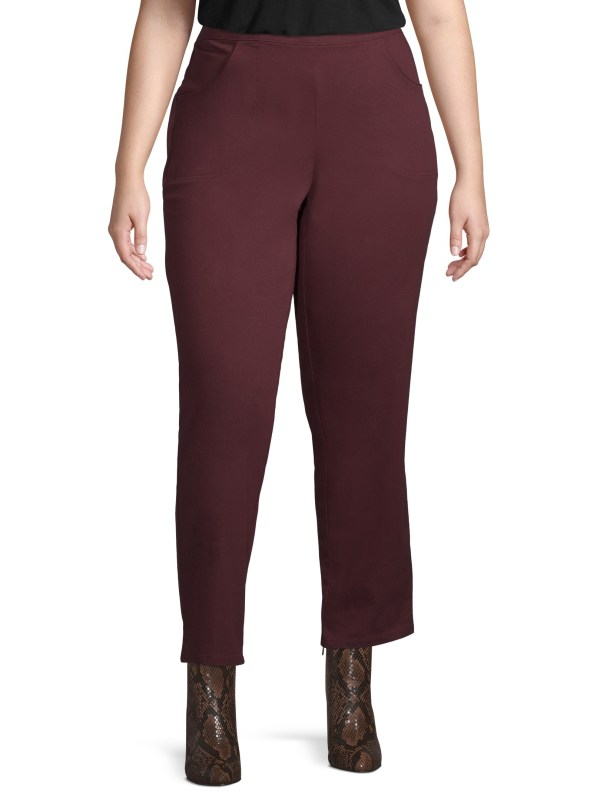 Size - Women' 2 Pocket Stretch Pants In Regular And
