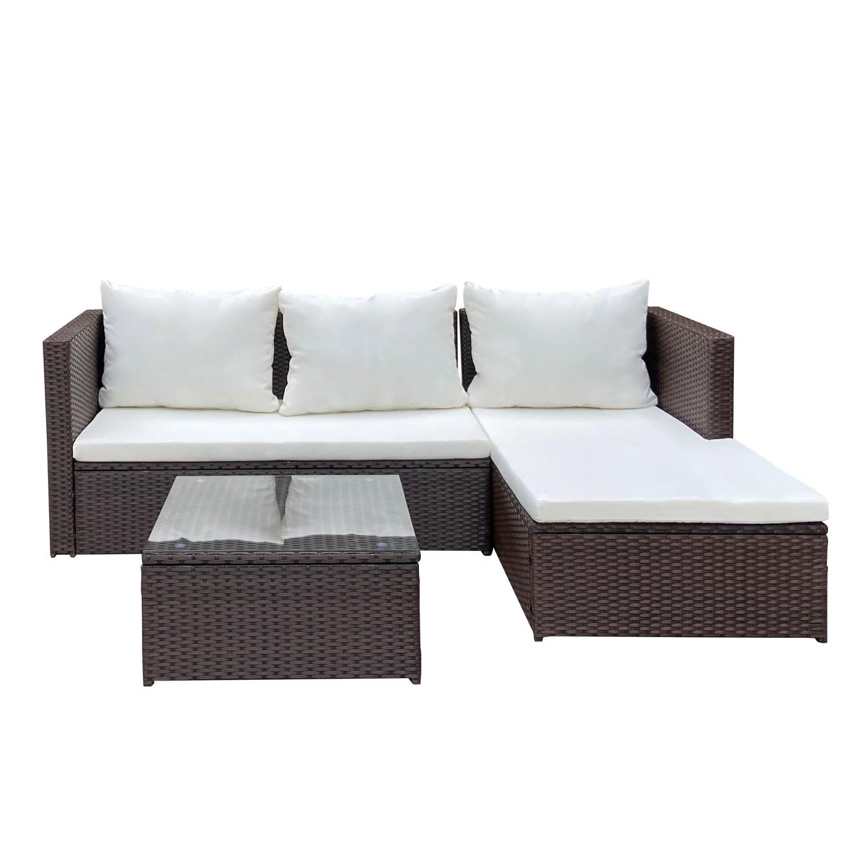 cloud mountain outdoor sectional sofa patio furniture set all weather wicker set for backyard garden balcony or small space walmart com