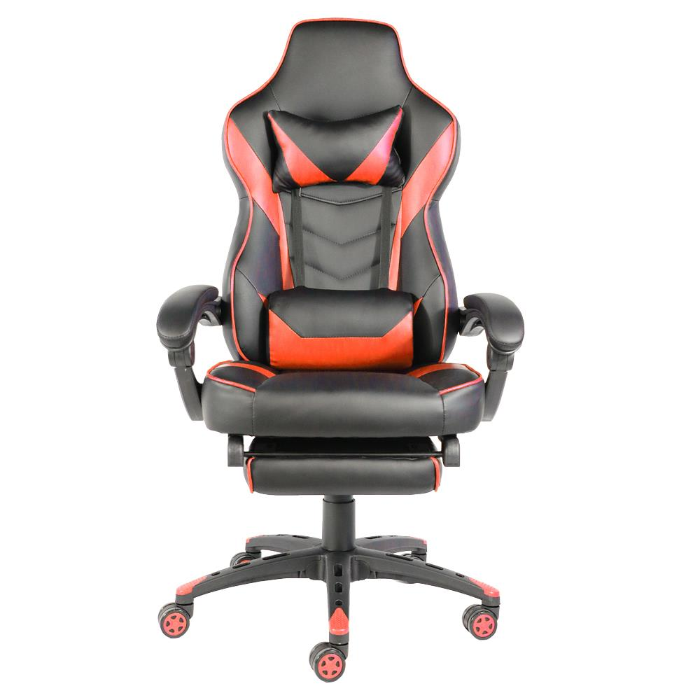 Foldable Office Chair Ktaxon Racing Gaming Chair C Type Foldable Nylon Foot Racing Chair With Footrest Ergonomic High Back Racing Computer Desk Office Chair Black Red