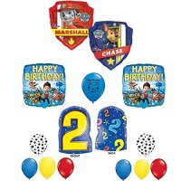 Paw Patrol Party Supplies 2nd Second Birthday Balloon ...