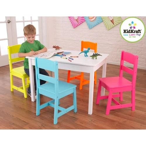 KidKraft Highlighter Kids 5 Piece Table and Chair Set