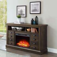 "Electric Fireplace Media Console 70"" TV Stand Heater ..."