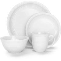 Mainstays 16-Piece Stoneware Dinnerware Set, Assorted ...