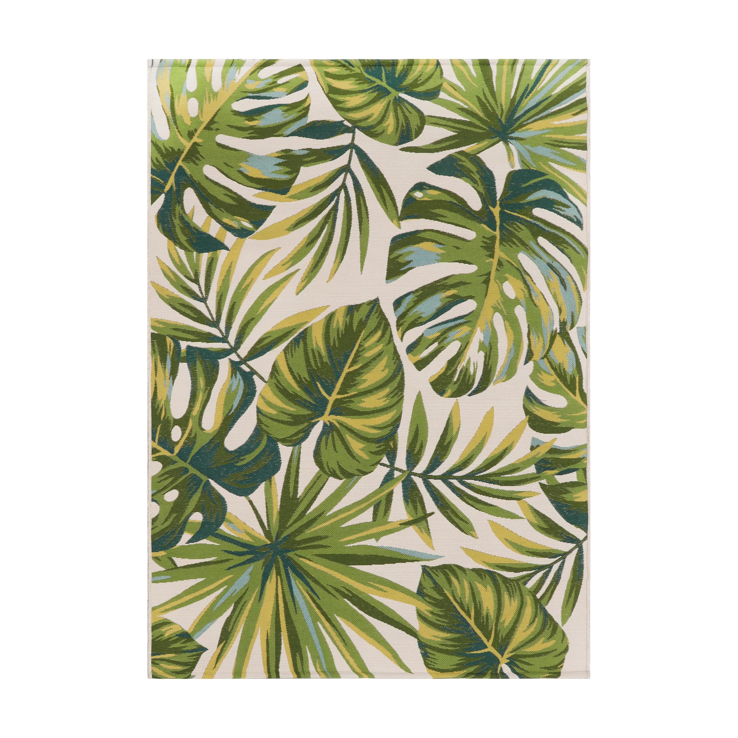 better homes gardens palm leaf woven outdoor rug 5 x 7